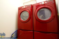 Save on Baggage Fees with Full Size Washer and Dryer