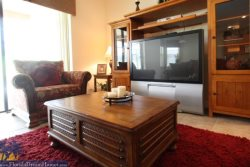 Huge Large Screen TV with Comfortable Sofas