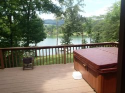 On Golden Pond Hot tub with view
