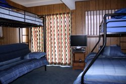 The downstairs Captain Quarters has 2 sets of bunk beds