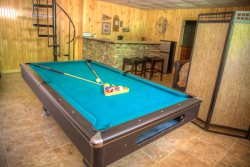 Enjoy a game or two of pool while enjoying the weekend in the Mountains