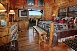 My Mountain Dream Vacation Cabin Master Bedroom