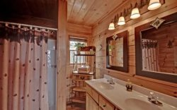 My Mountain Dream Vacation Cabin Master Bath