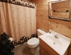 My Mountain Dream Vacation Cabin Lower Level Bathroom