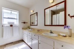 Dual Vanities the Master bathroom perfect for his and hers space - South Mission Beach, San Diego Vacation Home