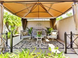Comfortable Canopy Lounging Space - Great for Entertaining