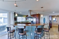 Pacific Beach Vacation Rental - Upstairs Kitchen with Breakfast Bar