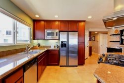 Upstairs Kitchen with Stainless Steel Appliances