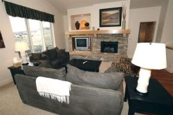 Living Area with Gas Fireplace, TV with DVD