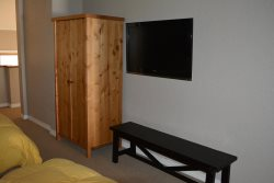 Hand Made Furniture and Flat Screen TV