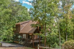 TREETOP TRANQUILITY- BEAUTIFUL 3 BR/3 BATH CABIN WITH A MOUNTAIN VIEW! HOT TUB, WIFI, SAT TVS, POOL TABLE, FOOSEBALL TABLE, GAS LOG FIREPLACE, GAS GRILL, FIRE PIT, STARTING AT $165/NIGHT!