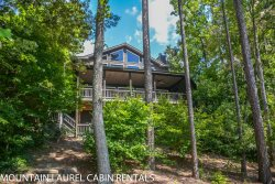 OVERLAKE COTTAGE- 4 BR/3.5 BA- LUXURY COTTAGE ON LAKE BLUE RIDGE SLEEPS 8, WIFI, LONG RANGE MOUNTAIN VIEWS, PRIVATE DOCK, HOT TUB, FIREPLACE, CHARCOAL GRILL, PROFESSIONALLY DECORATED! STARTING AT $325/NIGHT!