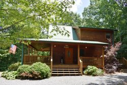 DANCING BEAR- 3BR/3BA- MOUNTAIN VIEW CABIN SLEEPS 6, GAS GRILL, FIRE PIT, HOT TUB, GAS LOG FIREPLACE, JETTED TUB, POOL TABLE, FOOSBALL, AND SATELLITE TV! STARTING AT $139 A NIGHT!