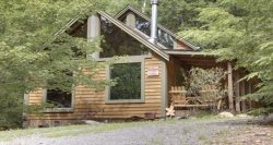 THE TIMBER CABIN- 1BR/1BA, SLEEPS 4, SECLUDED, ACCESS TO HIKING TRAILS, ATV`S ACCEPTABLE, WALKING DISTANCE TO THE LOG CABIN, SAT TV, STARTING AT $99/NIGHT