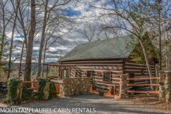 LA BIATA- 2BR/2BA- CABIN SLEEPS 8, WITH ADDITIONAL SLEEPING LOFT,BEAUTIFUL MOUNTAIN VIEW,  WIFI, GAS LOG FIREPLACE, CABLE TV, HOT TUB, SCREENED PORCH, CHARCOAL GRILL! STARTING AT $115/NIGHT!