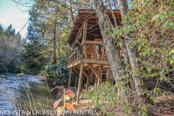 A TUMBLIN` RUN- 2BR/1 BA- CABIN LOCATED ON THE BEAUTIFUL FIGHTINGTOWN CREEK, SLEEPS 4, SATELLITE TV, WOOD BURNING STOVE, COVERED DECK WITH GAS GRILL, FIRE PIT, PET FRIENDLY-DOGS STAY FREE! STARTING AT $129 A NIGHT!