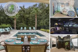 Perfect Combination | 50 Ft South Facing Lot, Luxury Furnishing, Star Wars Game Room & Themed Bedrooms