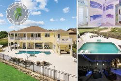 The House at Reunion | 8,200 Sq. Ft. Villa with 40 Ft. South Facing Pool, Theater Room, Games Room & Home Gym