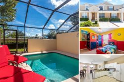 Magical Dreams | 3 Bed Townhome with Granite Countertops, Mickey Mouse Themed Bedroom & Private Screened Splash Pool