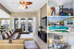 Florida Haven | 4 Bed Pool Home with Games Room, Superhero & Mickey Mouse Themed Kids Bedrooms