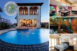 Infinity Luxury | Luxury Villa with Theme Games Room, Infinity Pool, Summer Kitchen & Gas Fire Pit