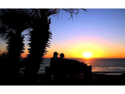 Enjoying the sunset in San Diego, California - this could be you