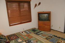 Mammoth Lakes Vacation Rental Woodlands 36 - There is 1 TV in the 2nd Bedroom