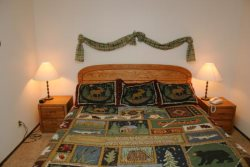 Mammoth Vacation Rental Woodlands 36 - 2nd Bedroom with a King Bed
