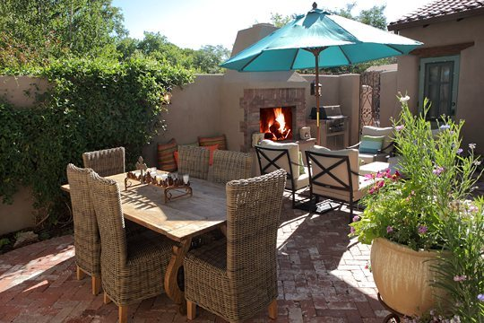 Casa de los farolitos casas de santa fe vacation for Santa fe new mexico cabin rentals