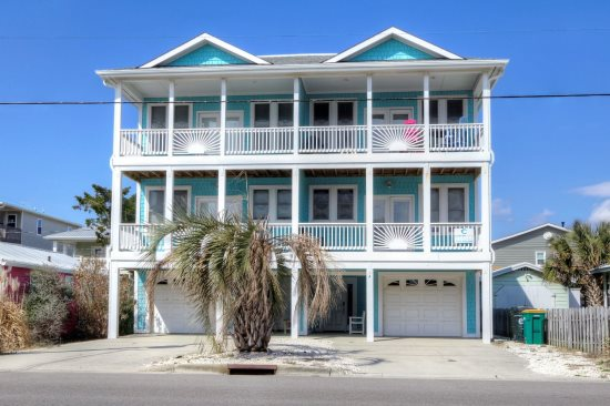 palms up  ocean view duplex in kure beach, nc., kure beach house rental wedding, kure beach house rentals, kure beach house rentals pet friendly