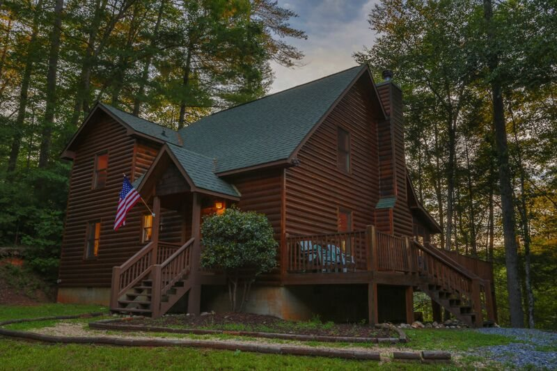 North ga cabin rentals river whisper for Ellijay cabins for rent by owner