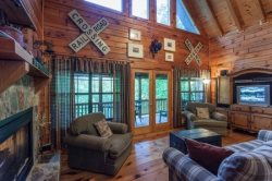 ALL ABOARD! Come listen for the train while relaxing at this Blue Ridge property.
