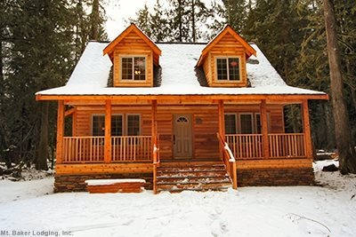 The front of Cabin 89 - a charming cedar chalet