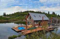 The Boat House is a 2 bedroom 1 bath Boat House just outside of Astoria Oregon sleeps 4