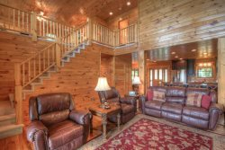 Upscale Log Cabin with Mountain Views, 2 King Master Suites, Hot Tub, Pool Table, Fire Pit and Much More!