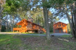 Unique Rustic Vacation Cabin on 50 acres with Views, Hot Tub, Game Room, Fire Pit, Pond, Creek, Waterfall, Hiking Trails, and more!