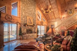 4BR, Long-Range Grandfather Views, King Suite, Hot Tub, 3 Flat Screen TVs, 2 Living Areas, Game/Media Room, Pool/Air Hockey Table, Ping Pong, Wet Bar, Huge Great Room, Leather Furniture, River Rock Fireplace, 2 Outdoor Dining Areas, Close to Boone