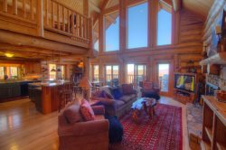 4BR, Layered Long-Range Views, Grandfather Mtn Location, Hot Tub, Pool Table, 2 King Beds, Bunkroom, Open Floor Plan, Warm Wood Interior, Stone GAS Fireplace, Gated Community, Close to Sugar Ski Resort