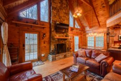 Cozy, Charming Mountain Cabin with a View in Valle Crucis with a Hot Tub, Fire Pit, Game Room, 2 King Masters