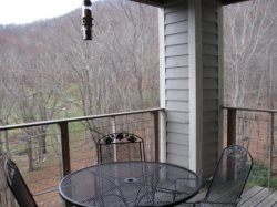 Hawks Peak Great Porch on which to enjoy privacy and great views of Grandfather Mountain