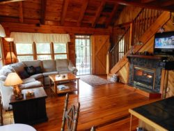 Sleeps 8, Rustic Log Cabin, Convenient Location, Trout Fishing, Beautiful Woodwork, Loft, Game Room, Grill, Flat Screen TV