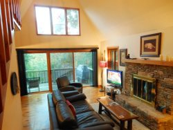 3BR Cottage, Views of Grandfather Mountain, Flat Screen, Leather Furniture, Stacked Stone Fireplace, Tennis