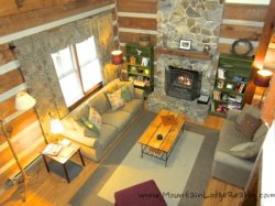 Trailhead Cabin Living Room as Viewed from Loft
