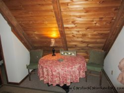 Trailhead Cabin King Bedroom private Table
