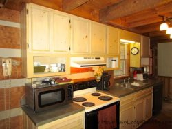 Trailhead Cabin Kitchen