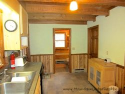 Trailhead Cabin Kitchen with Rolling Sideboard
