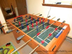 Trailhead Cabin Foosball Table in Bunk Room
