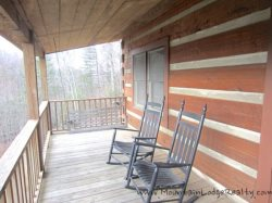 Trailhead Cabin Front Porch Rockers and Swing