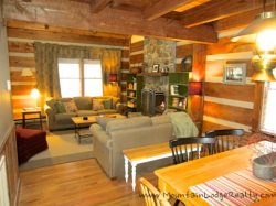 Trailhead Cabin Living Room from Dining Area