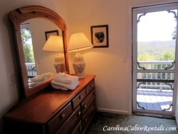 Mountain Sunrise Queen Bedroom with Private Porch